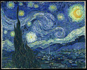 """Usando openFrameworks l'artista digitale di origine greca Petros Vrellis ha creato una versione animata e interattiva del famoso quadro di Van Gogh """"la notte stellata""""."""