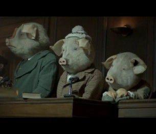 Brillante campagna pubblicitaria creata dall'agenzia inglese BBH per la digitalizzazione del quotidiano britannico The Guardian. I tre piccoli porcellini, famosa favola popolare europea qui rivista in chiave moderna, uccidono il grande lupo cattivo e ne subiscono le conseguenze mediatiche.