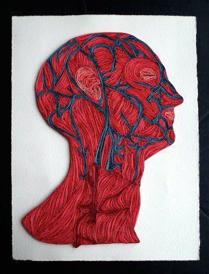 """Sara Yakawonis scopre il quilling nel 2010 e da allora si è specializzata in questa minuziosa arte perfezionandosi nei dettagli. I suoi lavori più popolari sono le raffigurazioni anatomiche. Se vi piace il quilling e l'anatomia consiglio di dare un occhiata anche ai lavori della """"collega"""" Lisa Nilsson."""